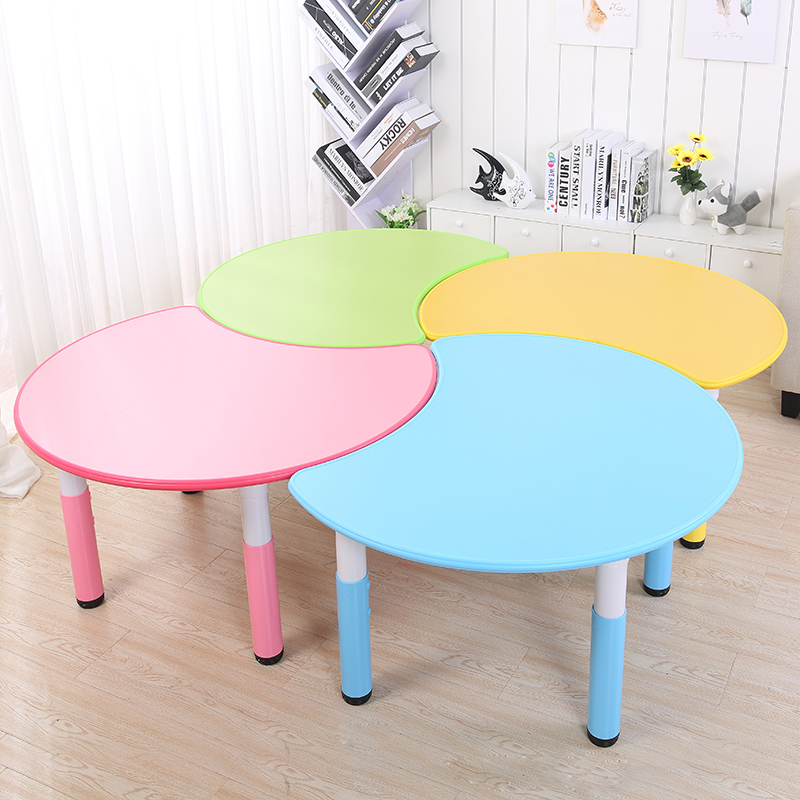Colorful Cute Children Desk Nursery School Table And Chair